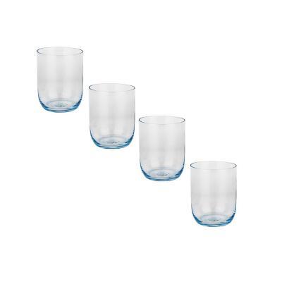 Set vasos de vidrio 410 ml transparente 4 unidades