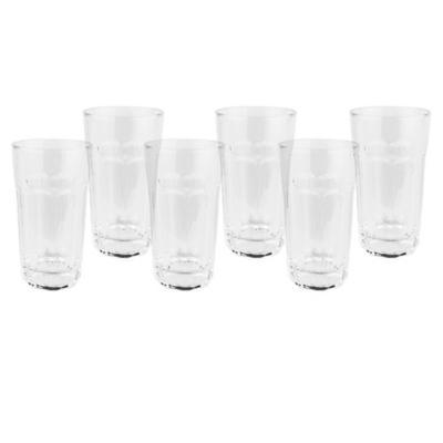 Set vasos de vidrio 370 ml transparente 6 unidades