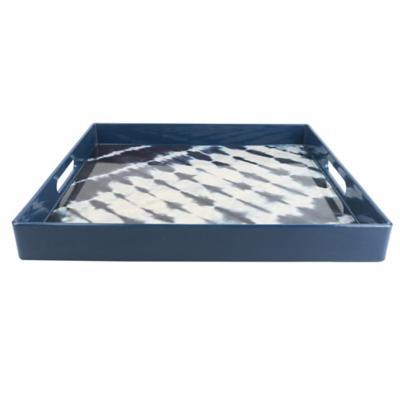 Bandeja 35,5x35,5x4,5 cm celeste sintetica