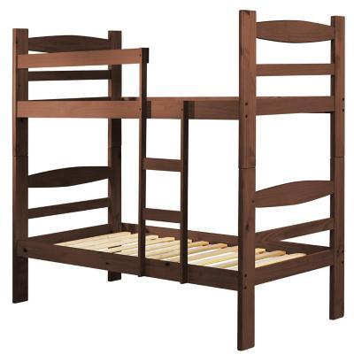 Camarote 1 plaza 98x197x180 cm madera + 2 colchones