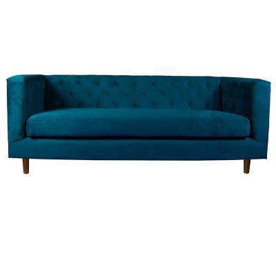 Sofá brescia 3 cuerpos velvet 190x78x74 cm azul