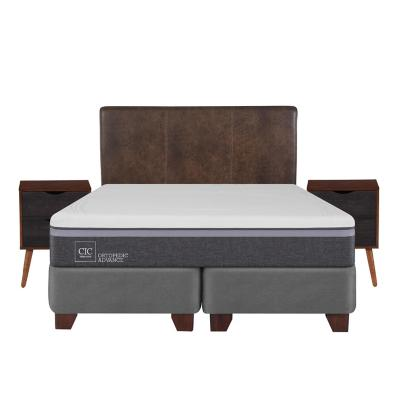 Box spring ortopedic advance king fn + muebles