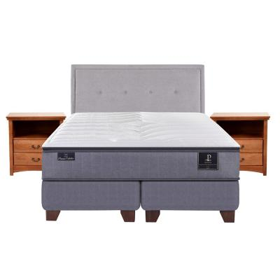 Box spring premium 2 plazas bd fn + muebles