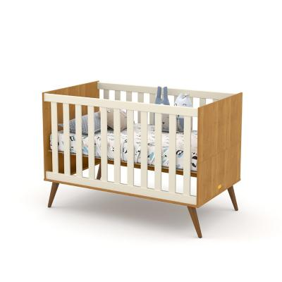 Cuna 77x93x136 cm gris/eco wood