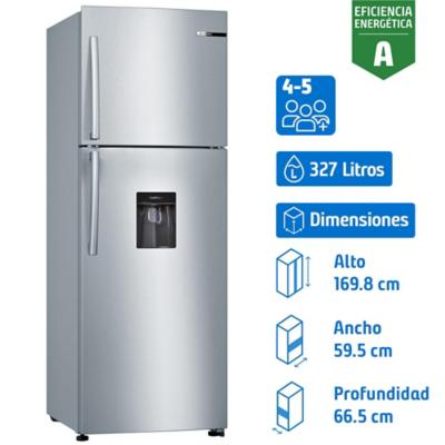 Refrigerador no frost top dispensador 327 litros