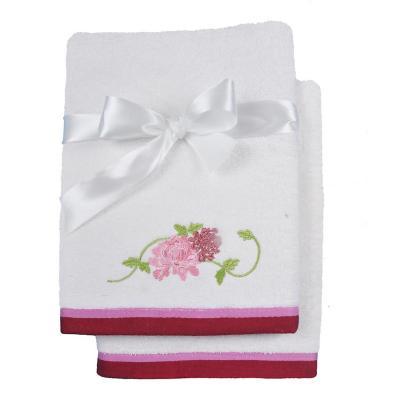 Set de 2 toallas cuerpo + mano crudo rosa