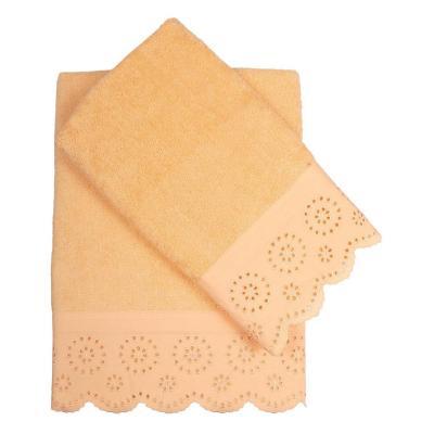 Set de 2 toallas cuerpo + mano damasco