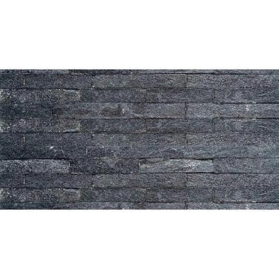 Piedra cuarzo negro 15x60 cm 0,72 m2