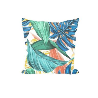 Cojín Gabardina hojas colores 45x45 cm