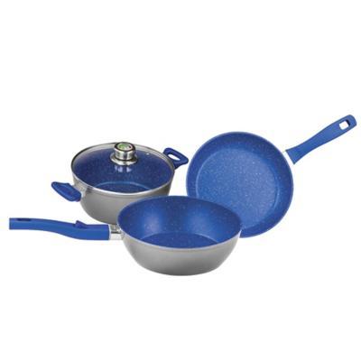 Batería de cocina azul set 4 piezas