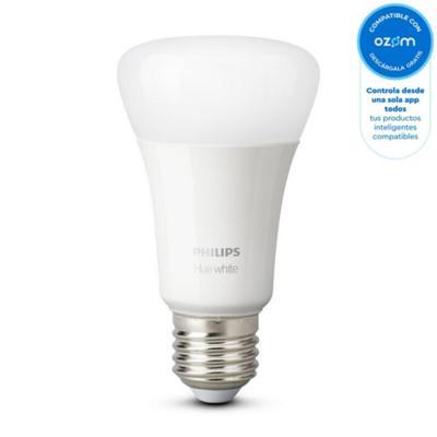 Ampolleta inteligente HUE blanca E27 9W bluetooth luz multicolor