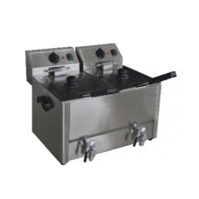 Freidora eléctrica alta calidad 2 tachos 8 lts c/u
