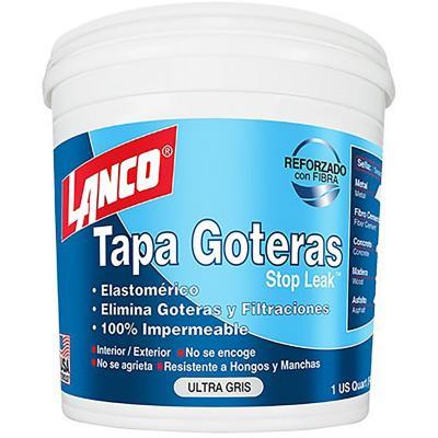 Tapagoteras acrílico gris 1/4 de galón