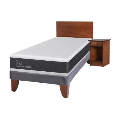 Cama europea ortopedic 1.5 plazas + muebles