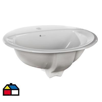 Lavamanos oval elea sobrepuesto blanco