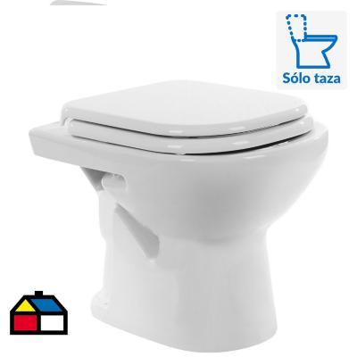 Taza de wc 6 litros bari corto a piso blanco