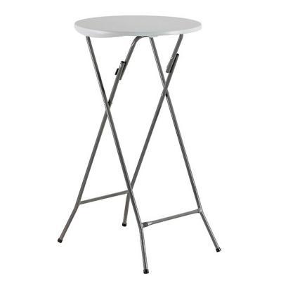 Mesa plegable redonda alta 60 cm blanca