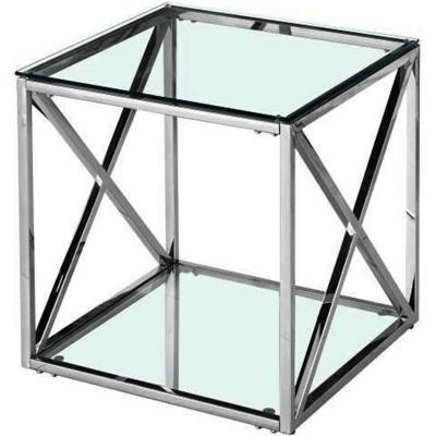 Mesa Lateral Acero Berlín Gris 55x55x55 cm