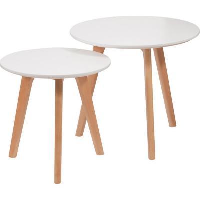 Set 2 mesas laterales eames blanco