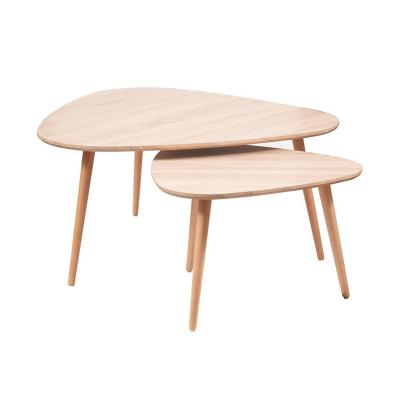 Set 2 mesas de centro eames Madera 90x90x45 cm