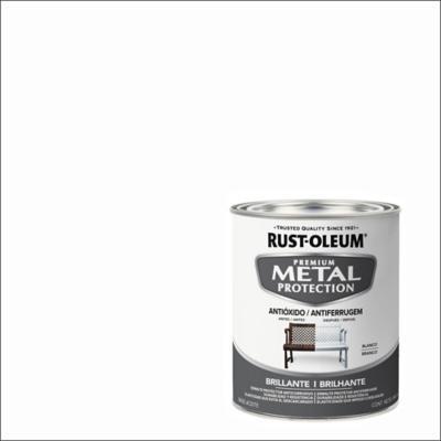 Esmalte anticorrosivo base agua 0,946 l brillante blanco