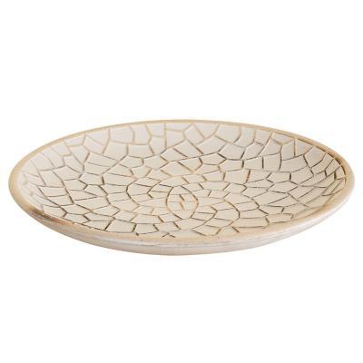 Centro de mesa  diseño Nórdico mosaico blanco