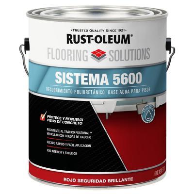Recubrimiento poliuretánico base agua 3,785 l semibrillante rojo
