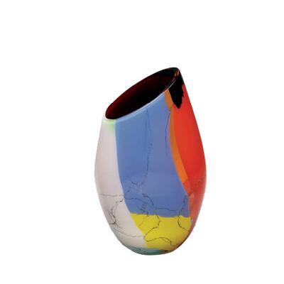 Florero Cristal Asis 18x11 cm multicolor