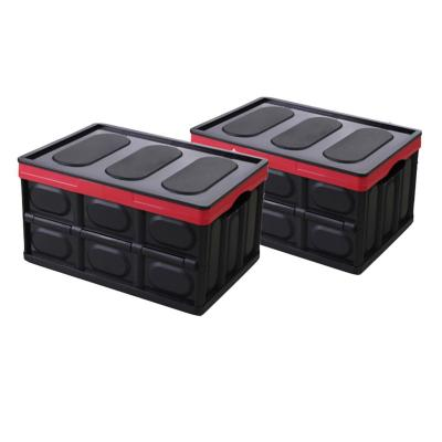 Set 2 cajas plegables 42,3x28,6x24cm negras