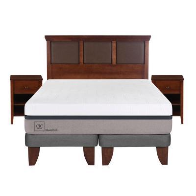 Cama europea balance 2 plazas bd + muebles