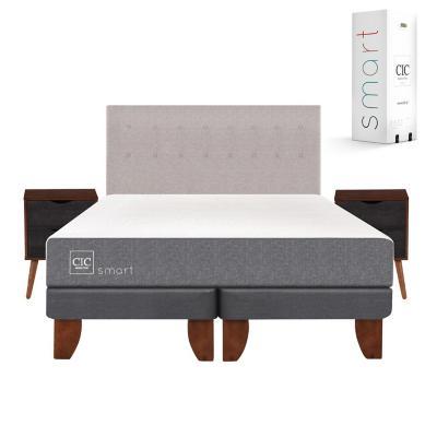 Cama europea smart king + muebles