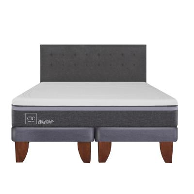 Cama europea ortopedic advance king + respaldo