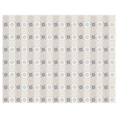 Alfombra Vinílica Baldosa Gris Amarillo 140x180 cm