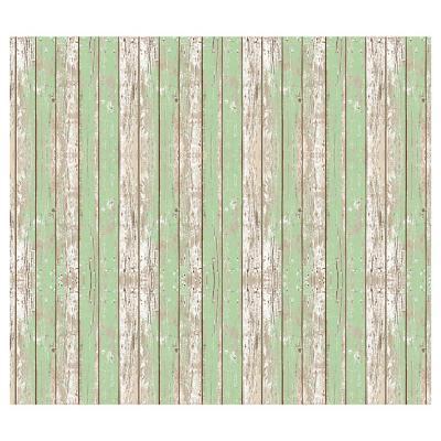 Alfombra Vinílica Madera Verde 140x160 cm
