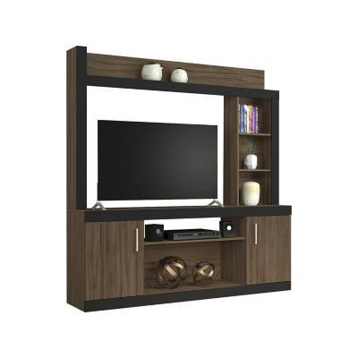 "Rack Tv 52"" Café Negro 185x180x37 cm"