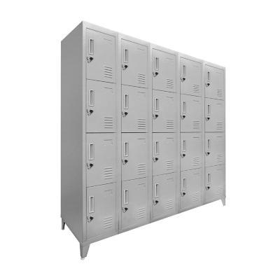 Lockers 20 puertas 166x137x45 cm acero