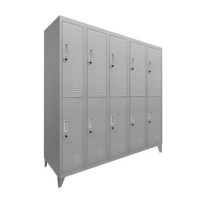 Lockers 10 puertas 166x137x45 cm acero