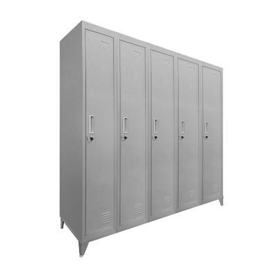 Lockers 5 puertas 166x137x45 cm acero