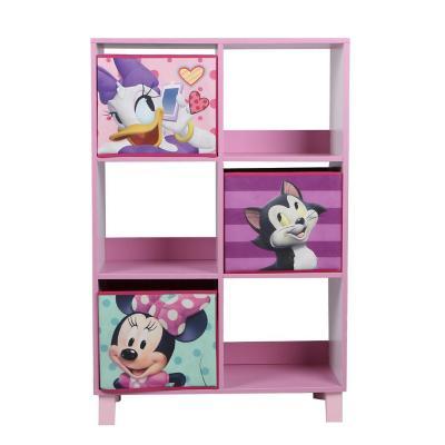 Estante organizador Minnie 6 repisas 90x60x30 cm rosado