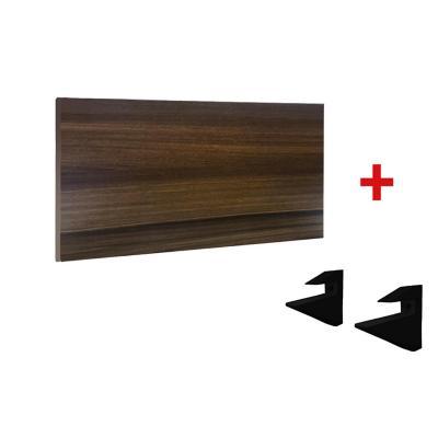 Kit Repisa + Soporte  60cm × 30cm  MDP  NOGAL