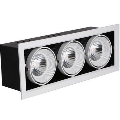Foco Embutido Puzzle Triple Dirigible 18W luz neutra