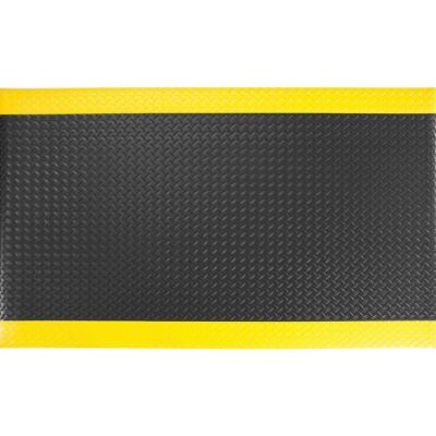 """Alfombra antifatiga 1/2"""" 90x370 cm negro/amarillo"""