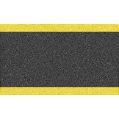 """Alfombra antifatiga 3/8"""" 0,90x1,83 m negro/amarillo"""