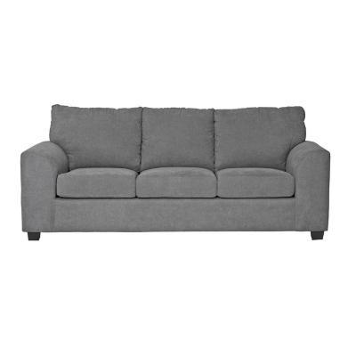 Sofá 3 cuerpos Manhattan tela gris 220x90x80 cm