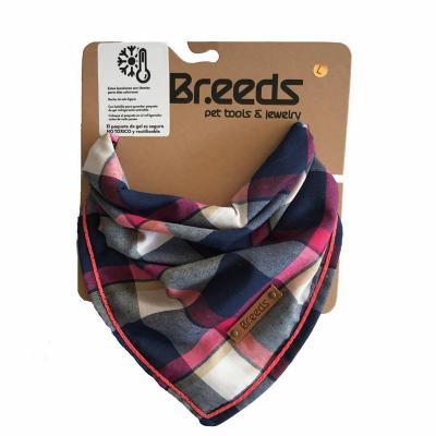 Bandana para mascotas grande escocés fucsia
