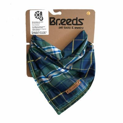 Bandana para mascotas grande escocés verde