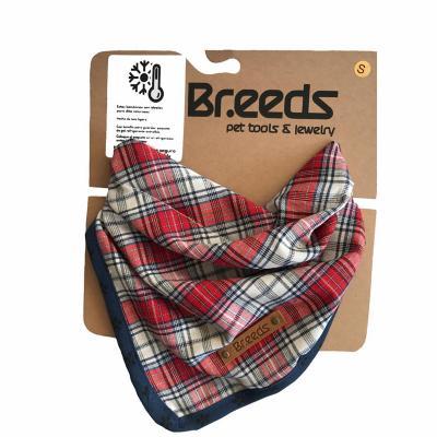 Bandana para mascotas mediana escocés rojo