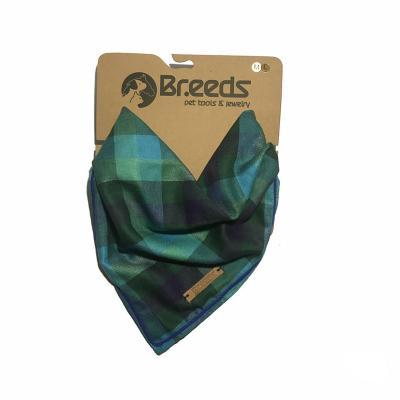 Bandana para mascotas grande escocés turquesa