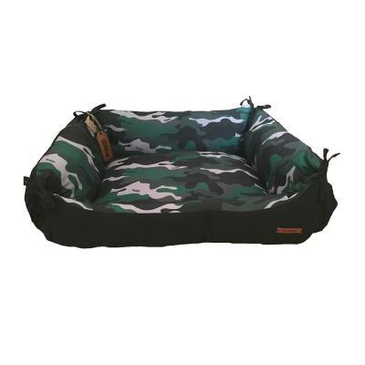 Cama para mascotas grande 62x75x28 cm verde