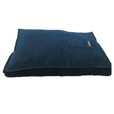 Cama cojín para mascotas 75x55x10 cm mediano azul
